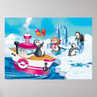 penguins in Antarctica Poster