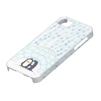 Penguins in Igloo While Snowing iPhone 5 Case