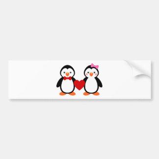 Penguins in Love Bumper Sticker