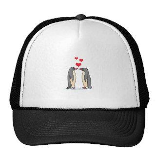 PENGUINS IN LOVE TRUCKER HAT
