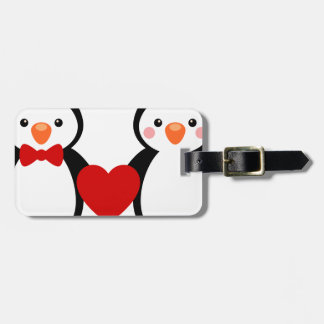 Penguins in Love Luggage Tag