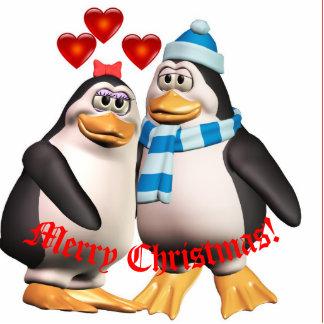 Penguins in Love Photo Ornament Photo Sculpture Decoration
