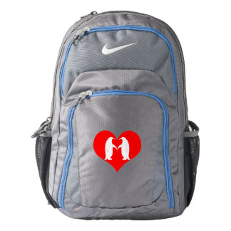 Penguins in Love with Hearts Backpack