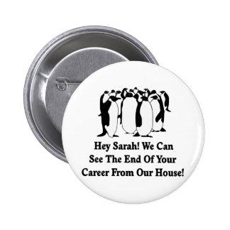 Penguins Message To Sarah Palin Buttons