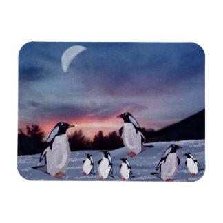 Penguins on Ice Premium Magnet