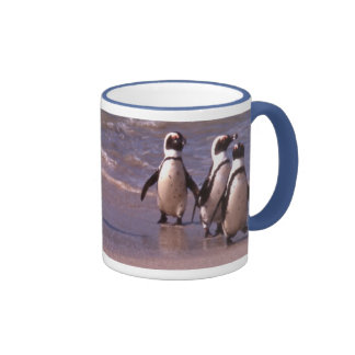 Penguins on the beach Mug