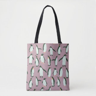 Penguins Pattern Tote Bag