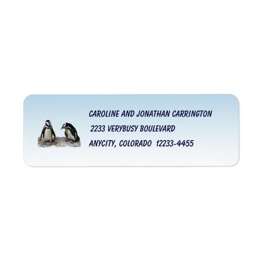 Penguins Return Address Label