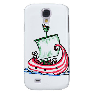 Penguins Sailing Christmas Boat iPhone 3G/3GS Case Galaxy S4 Case