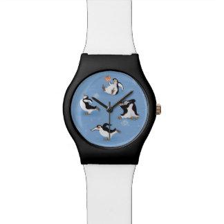 Penguins skating pattern watch