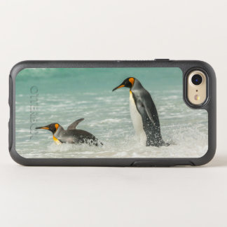 Penguins swimming on the beach OtterBox symmetry iPhone 8/7 case