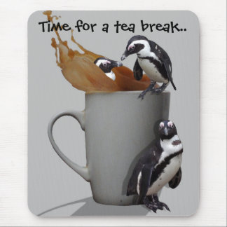 Penguins Tea Break Mouse Mats