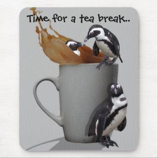 Penguins Tea Break Mouse Pad