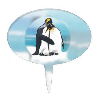 Penguins Through The Igloo Cake Topper