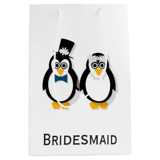 Penguins Wedding Gift Bag (Customisable)