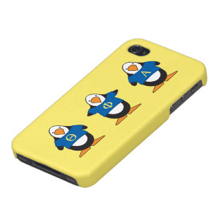 Penguins with Shirts Cover For iPhone 4