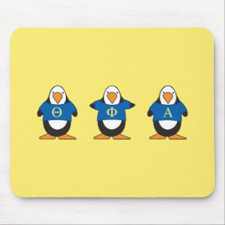 Penguins with Shirts Mouse Mat