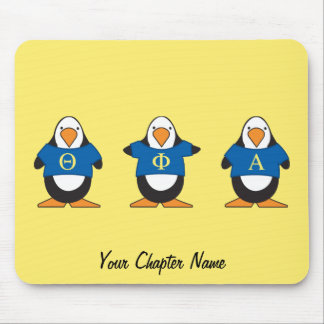 Penguins with Shirts Mouse Pad