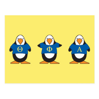 Penguins with Shirts Postcard