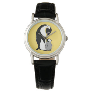 Penguins Yellow and Black Wristwatch