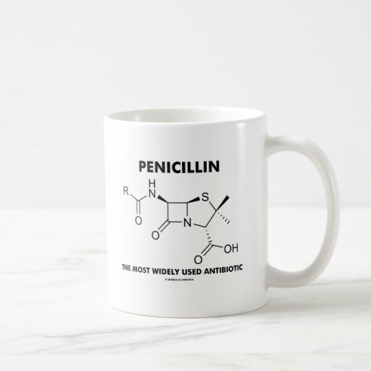 Penicillin Most Widely Used Antibiotic (Chemistry) Coffee Mug
