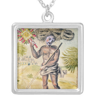 Penitent man in India Silver Plated Necklace