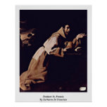 Penitent St. Francis By Zurbaran De Francisco Poster