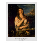 Penitent St. Mary Magdalene By Titian Print