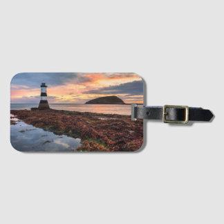 Penmon Lighthouse Sunrise | Puffin Island Luggage Tag