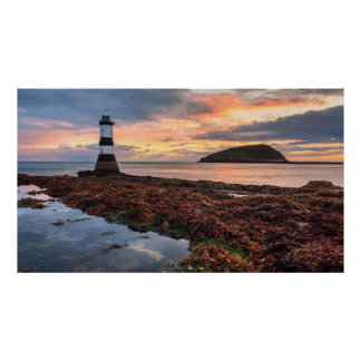 Penmon Lighthouse Sunrise | Puffin Island Poster