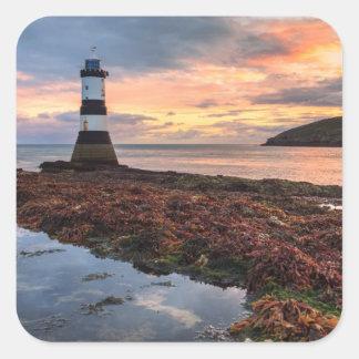 Penmon Lighthouse Sunrise | Puffin Island Square Sticker