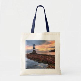 Penmon Lighthouse Sunrise   Puffin Island Tote Bag
