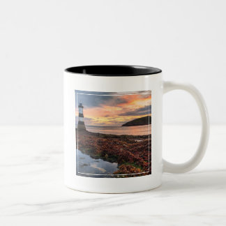Penmon Lighthouse Sunrise | Puffin Island Two-Tone Coffee Mug