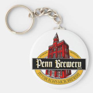 Penn Brew Basic Round Button Key Ring