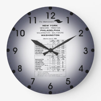 Penn Central Railroad Metroliner Timetable Clocks