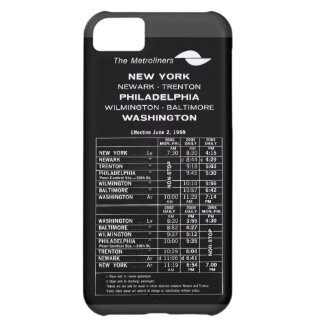 Penn Central Railroad Metroliner Timetable iPhone 5C Case