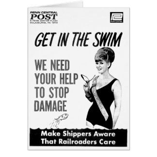 Penn Central Railroaders Care about Damage Note Card