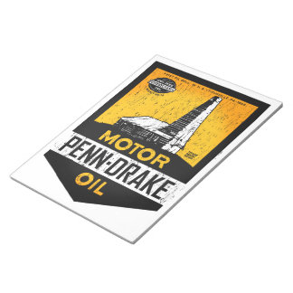 Penn-Drake Motor Oil distressed sign notepad Memo Note Pads