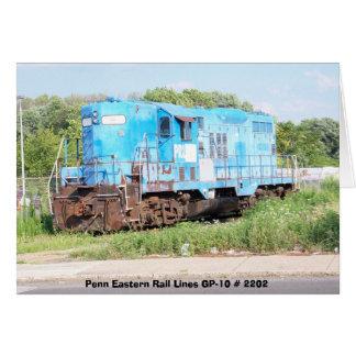 Penn Eastern Rail Lines GP-10 # 2202 Greeting Card