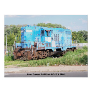 Penn Eastern Rail Lines GP-10 # 2202 Posters