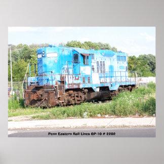 Penn Eastern Rail Lines GP-10 # 2202 Poster