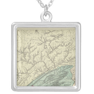 Penn flora silver plated necklace