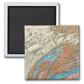 Penn geological formations square magnet