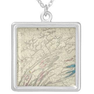 Penn iron, coal, petroleum, zinc silver plated necklace