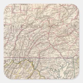 Penn, NJ, Md, Dela, DC, Virginia Square Sticker