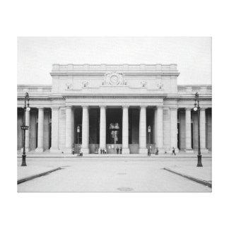 Penn Station Entrance 1910 Stretched Canvas Print