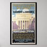 Penn Station,Gateway To America 1929 Poster Prints