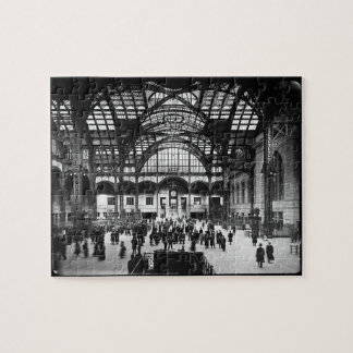 Penn Station New York City Vintage Railroad Jigsaw Puzzle