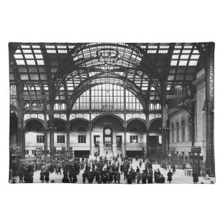 Penn Station New York City Vintage Railroad Placemat