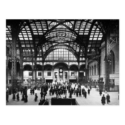 Penn Station New York City Vintage Railroad Postcards